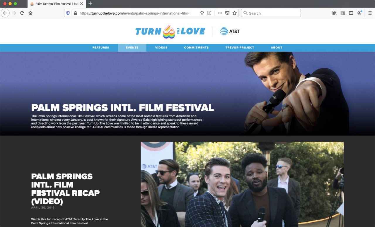 Love Loud Events Page