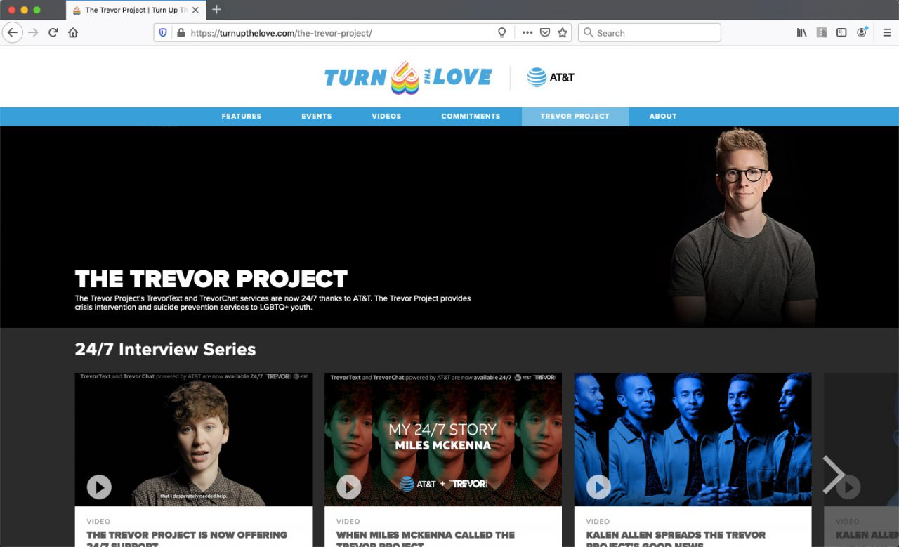 The Trevor Project Web Page