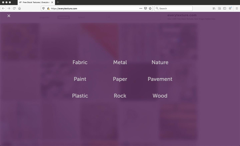 free textures website menu design