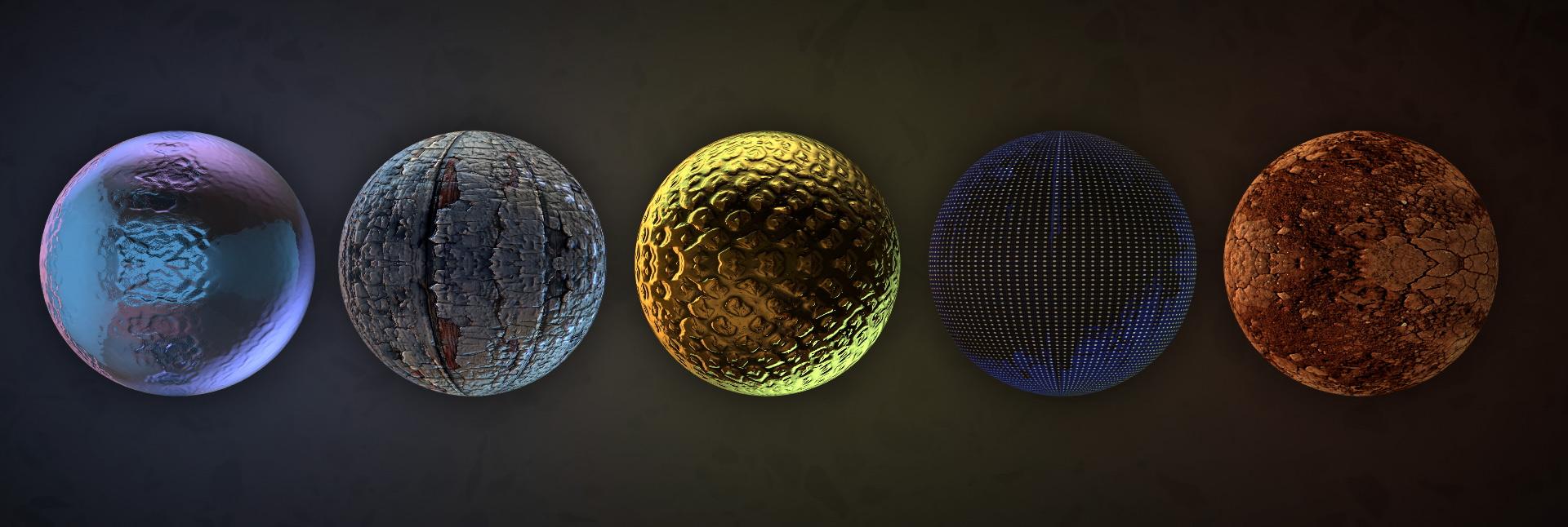 3D texture maps showcase from everytexture.com