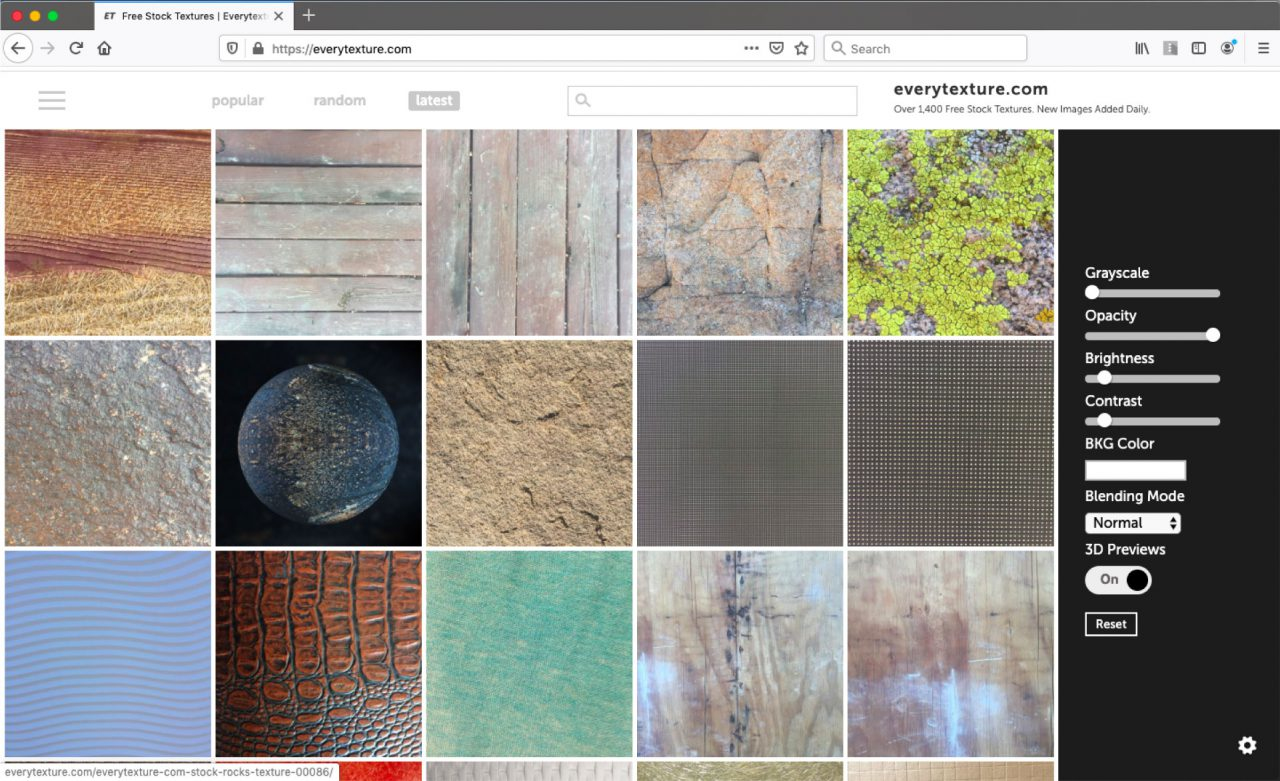 every texture website home