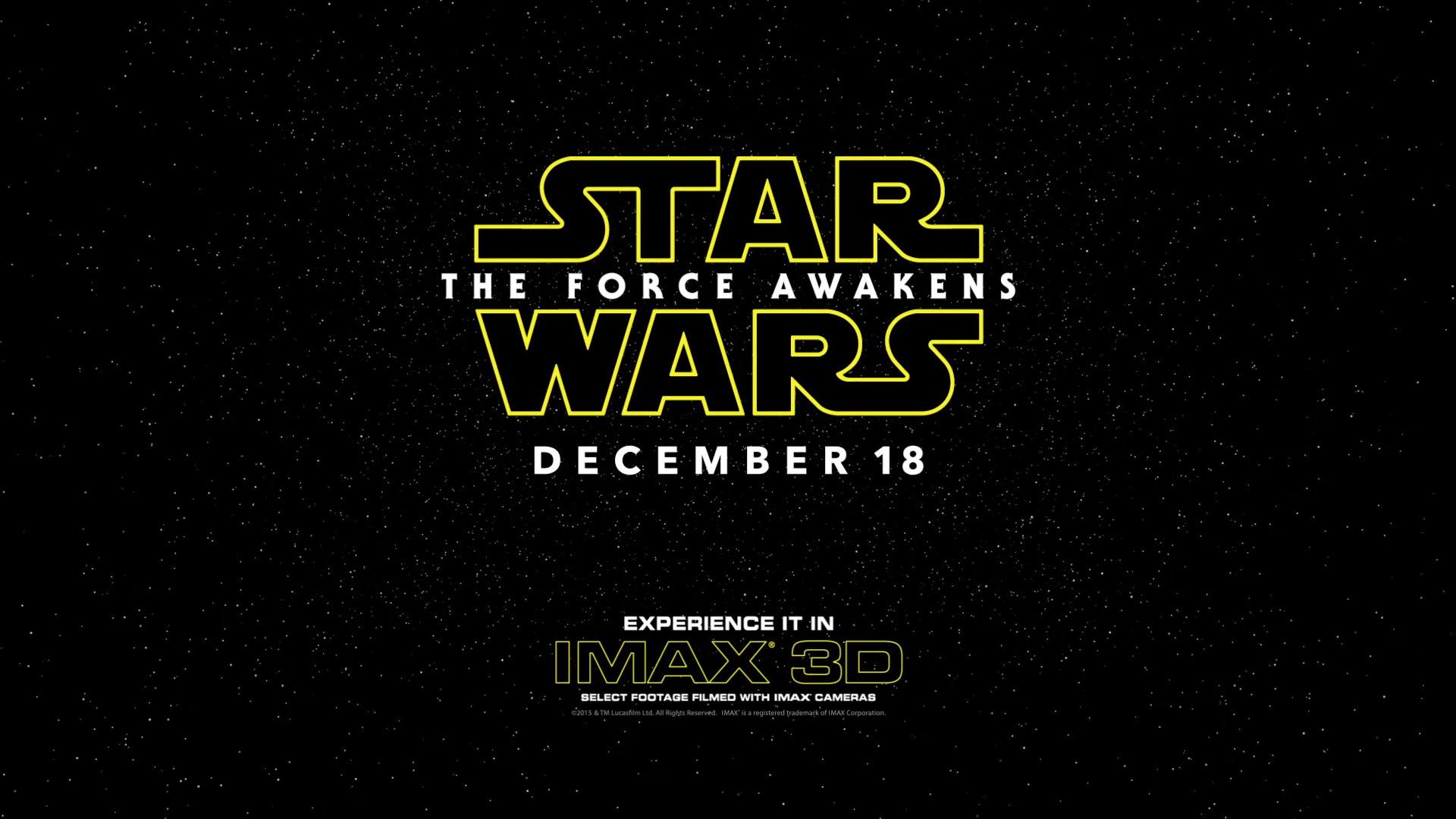 IMax Star Wars Promo