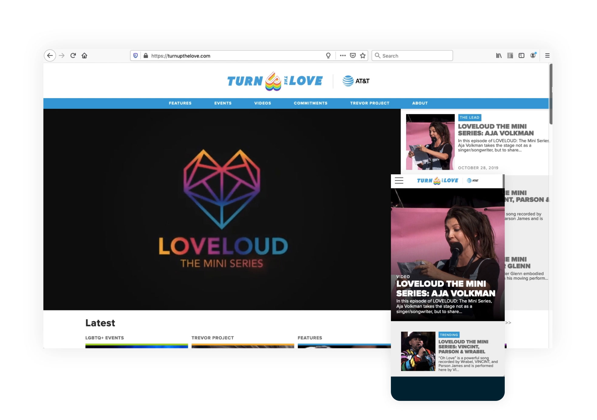 Turn Up The Love Home Page