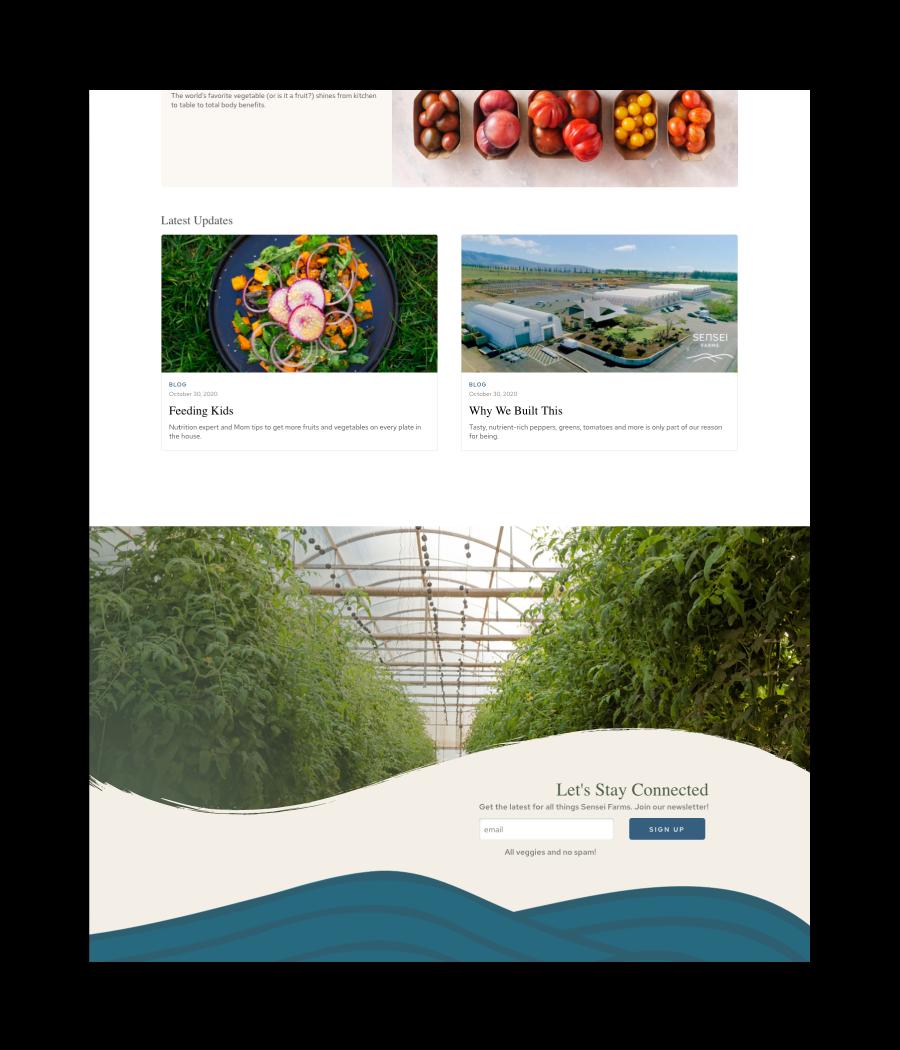 Sensei Farms Footer Design