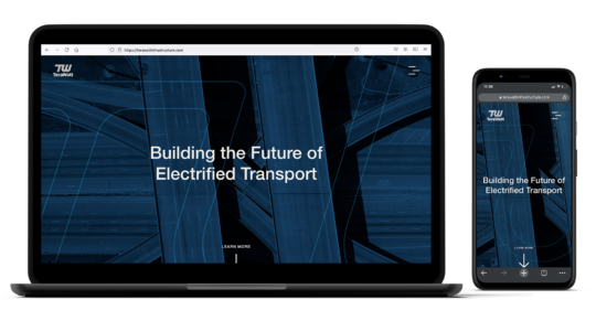 Terawatt Infrastructure Desktop and Mobile Mockup